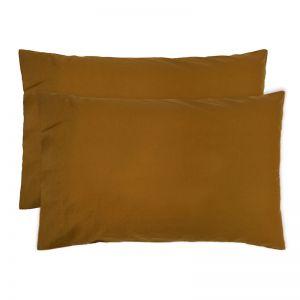 Temple Organic Cotton Pillowcase Pair | Tobacco