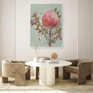 Sage Waratah | Canvas Print