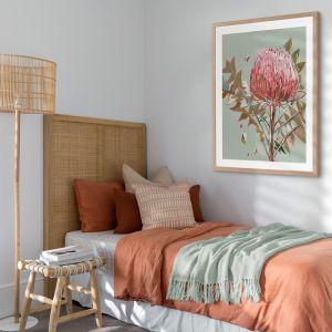 Sage Waratah | Framed Art Print