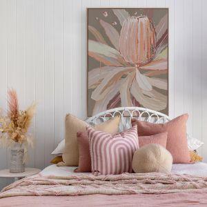 Peach Banskia   Canvas Print