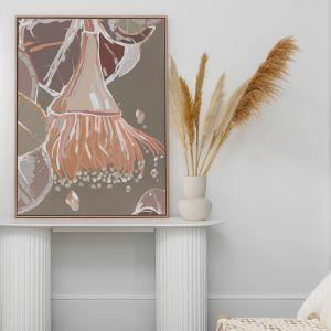 Peach Flowering Gum   Canvas Print