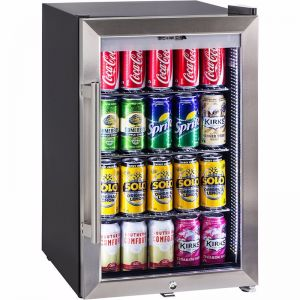Alfresco Glass Door Bar Fridge Holds 85x Cans