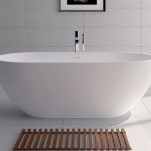 Nero Stone Bath   Matte White