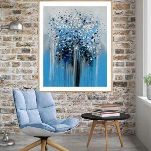 The Star | P1021-2 Blue | Framed Print | Colour Clash Studio