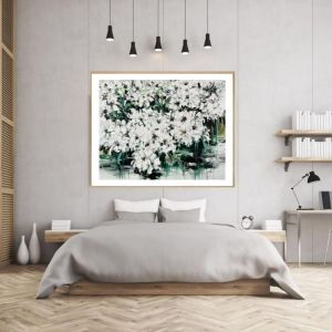 Abstract Flowers | P1004-324 | Framed Print | Colour Clash Studio