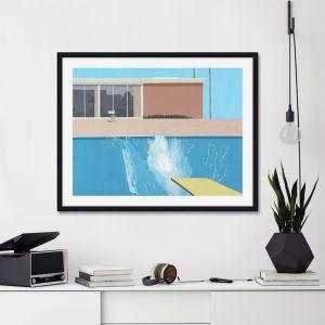 A Bigger Splash by David Hockney   Unframed Art Print