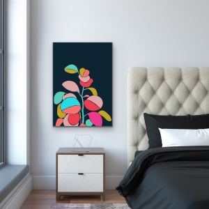 A Botanical Rainbow | Bright Geometric Jungle Print