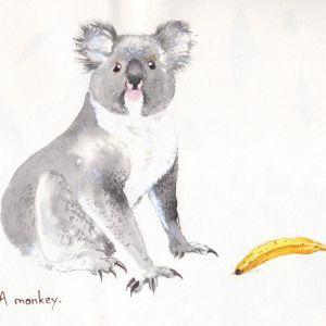 A monkey | Original Watercolour Artwork