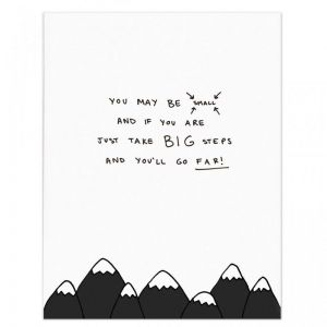 A3 Poem Print by Homely Creatures | Mountains