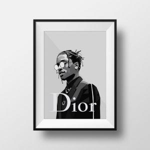 A$AP For Dior | Art Print | Framed and Unframed