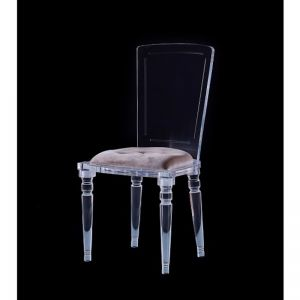 Abbey Lucite Acrylic Armless Dining Chair with Chesterfield Cushion | Customisable