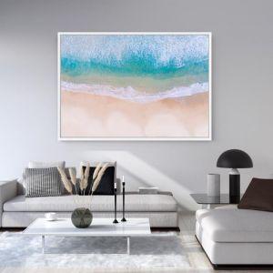 Above Bondi Beach   Floating Framed Canvas Art