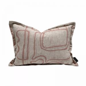 Abstract Cushion | Nude Oatmeal