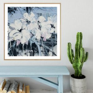 Abstract Flowers | Framed Print | P1004-333A | Colour Clash Studio