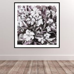 Abstract Flowers | Framed Print | P1006-215B | Colour Clash Studio