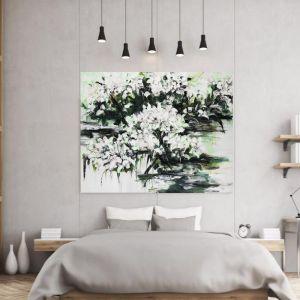 Abstract Flowers | P1006-206 | Canvas Print | Colour Clash Studio