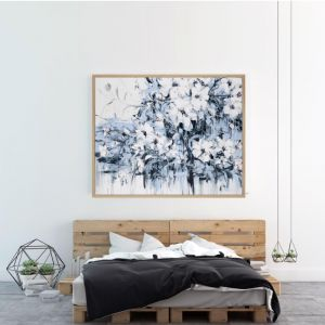 Abstract Flowers | P1006-232 | Framed Canvas Print | Colour Clash Studio
