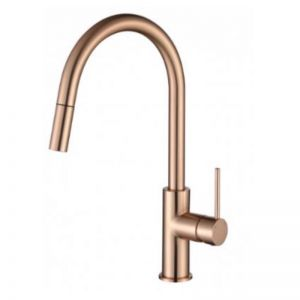 Accent Bath Pull Out Kitchen Mixer | Flemish Copper
