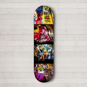 ACDC Lane   Skateboard Deck Wall Art   Street Art Photography   Blue Herring