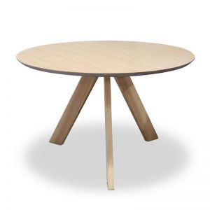 Ace Round Dining Table | 120cm | Natural Oak | Modern Furniture