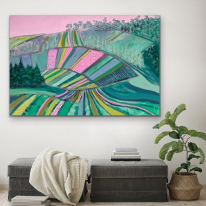 Across The Paddock | Australian Farm Painting | Stretched Canvas