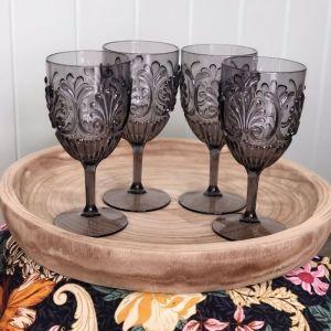 Acrylic Glass | Set of 4 | Grey