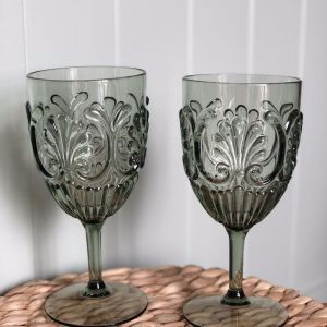 Acrylic Wine Glass | Set of 4 | Sage Green