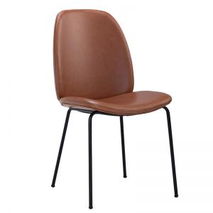 Adelia Dining Chair | Hazelnut Brown & Black