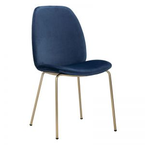 Adelia Dining Chair   Jungle Green & Brass