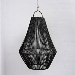 Adi Teardrop Jute Light Shade in Black l Pre Order