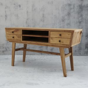 Aditya Angled Four Drawer Console Medium | Custom Made