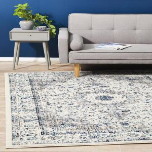 Adorn Evy Transitional | White/Grey/Blue Rug - PreOrder for End of Mid July 2020