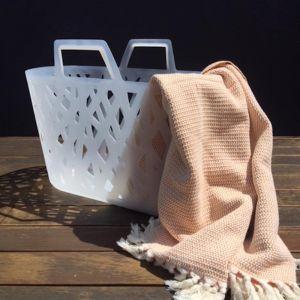 Aegean Loom Sorrento Pestemal Towel | Peach