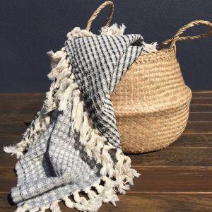 Aegean Loom Waffle Weave Pestemal Towels   Charcoal