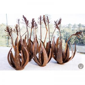 African Aloe Metal Sculpture   South Africa by Africanologie