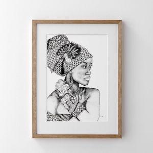 African Goddess Print