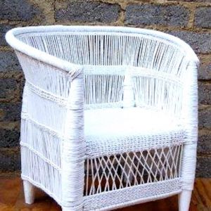 African Malawi Chair | White