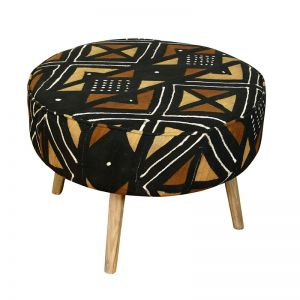 African Mudcloth Ottoman