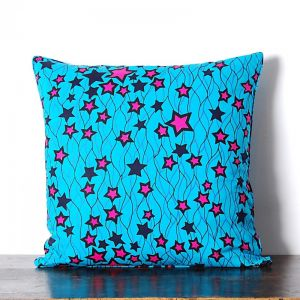 African Wax Print Cotton Cushion | Star