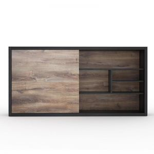 Aftan Display Unit 2.4M | Mahogany Black