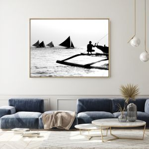 Afternoon Fishing | Shadow Framed Wall Art