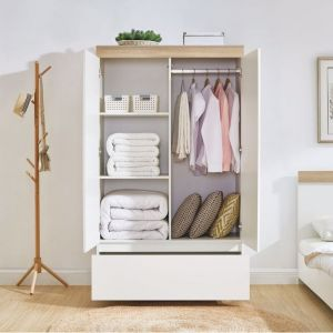 Aiden White Oak Wardrobe