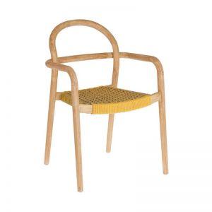 Alba Marbled Mustard Chair
