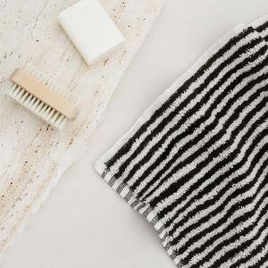 Albatross Bath Mat - Black & White Stripe