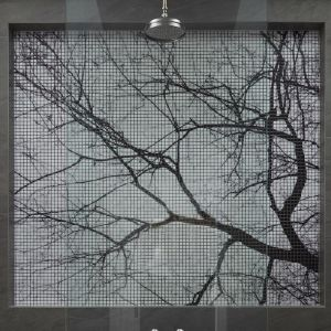 "'Albero Lungo"" Tree Silhouette Mosaico Digitale 