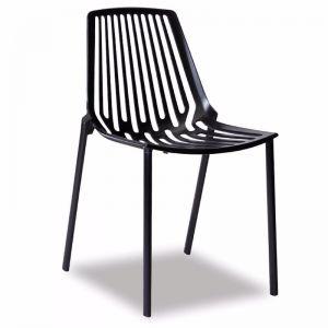 Alby Chair   Aluminium   Black
