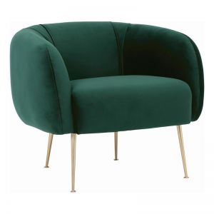 Alero Single Seater Sofa | Dark Green