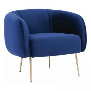 Alero Single Seater Sofa | Midnight Blue