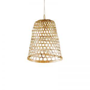 Aleta Bamboo Bird Cage Lantern Pendant
