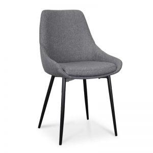 Alfie Dining Chair | Dark Grey | Set of 2 | Interior Secrets